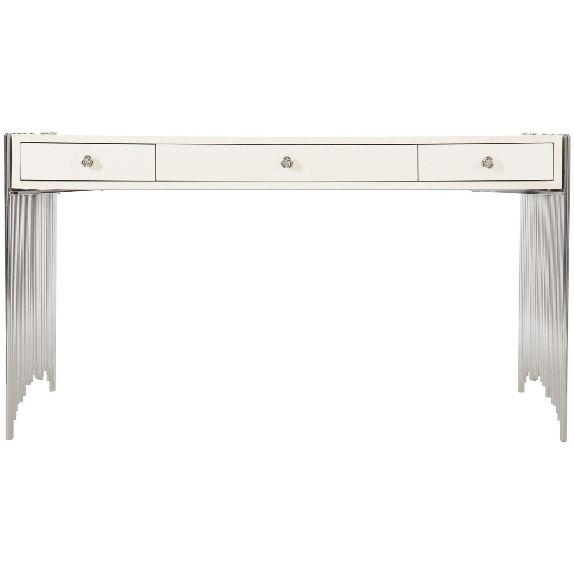 Transitional Metal Desk with Drawers