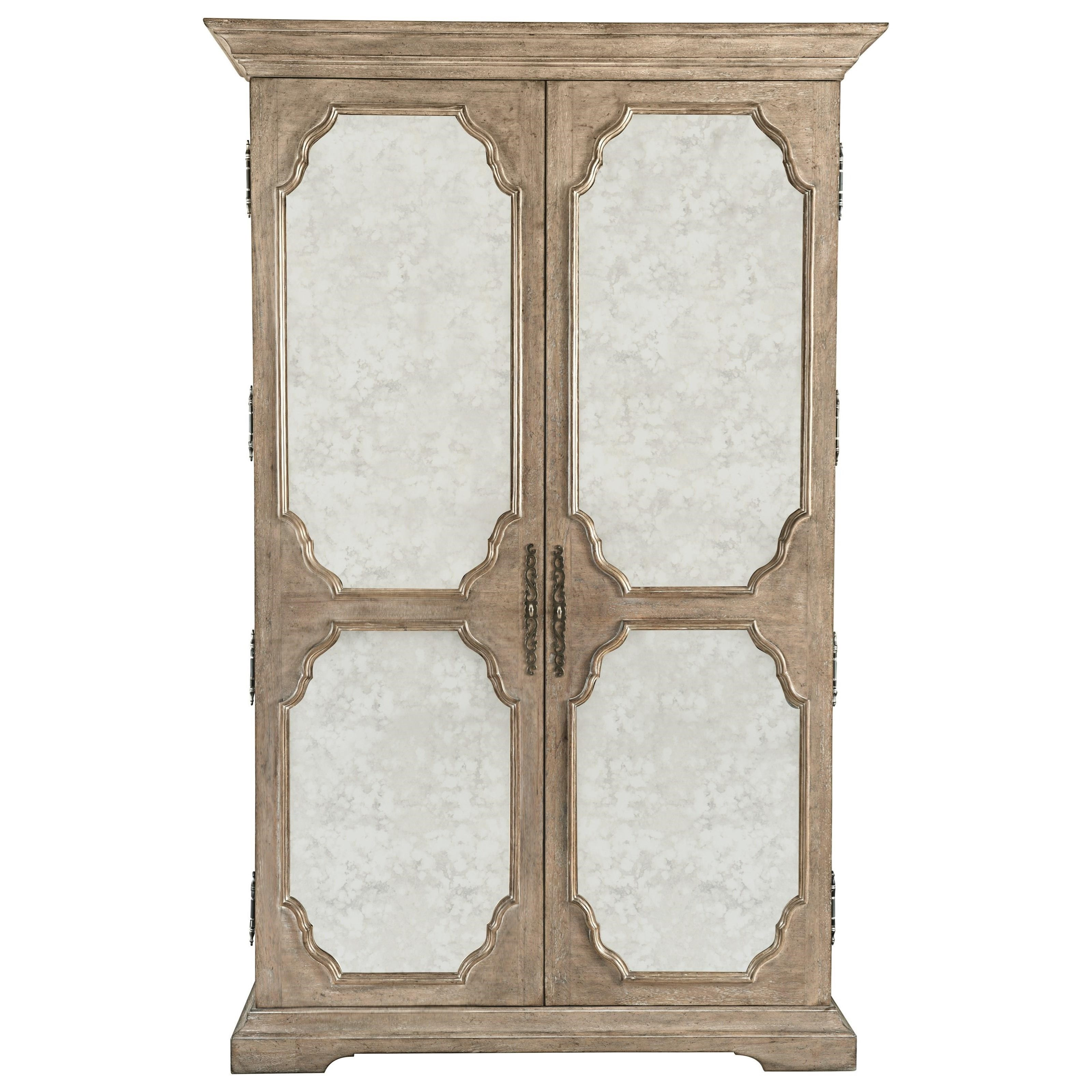 Bernhardt Campania Armoire With Inset Antique Mirrored Glass | Adcock  Furniture | Armoires