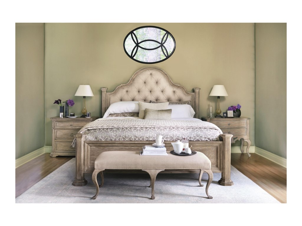 Bernhardt CampaniaKing Upholstered Panel King Bed