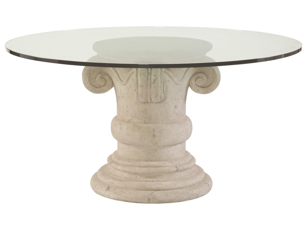 Bernhardt Campaniaround Gl Top Dining Table