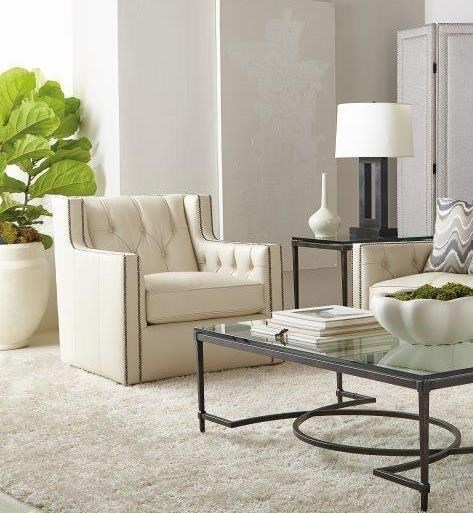Candace Swivel Chair With Nailhead By Bernhardt At Baer S Furniture