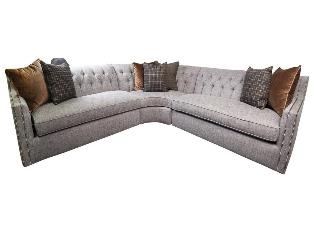 Candace Sectional Sofa With Accent Pillows By Bernhardt At Morris Home