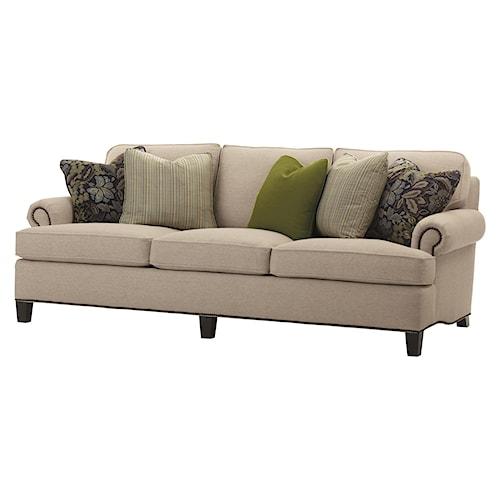 Bernhardt Cassandra Three Seat Traditional Sofa