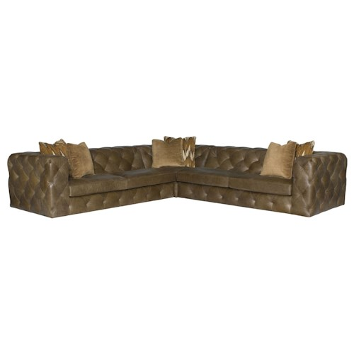 Bernhardt Chelsea Four Seat Sectional Sofa