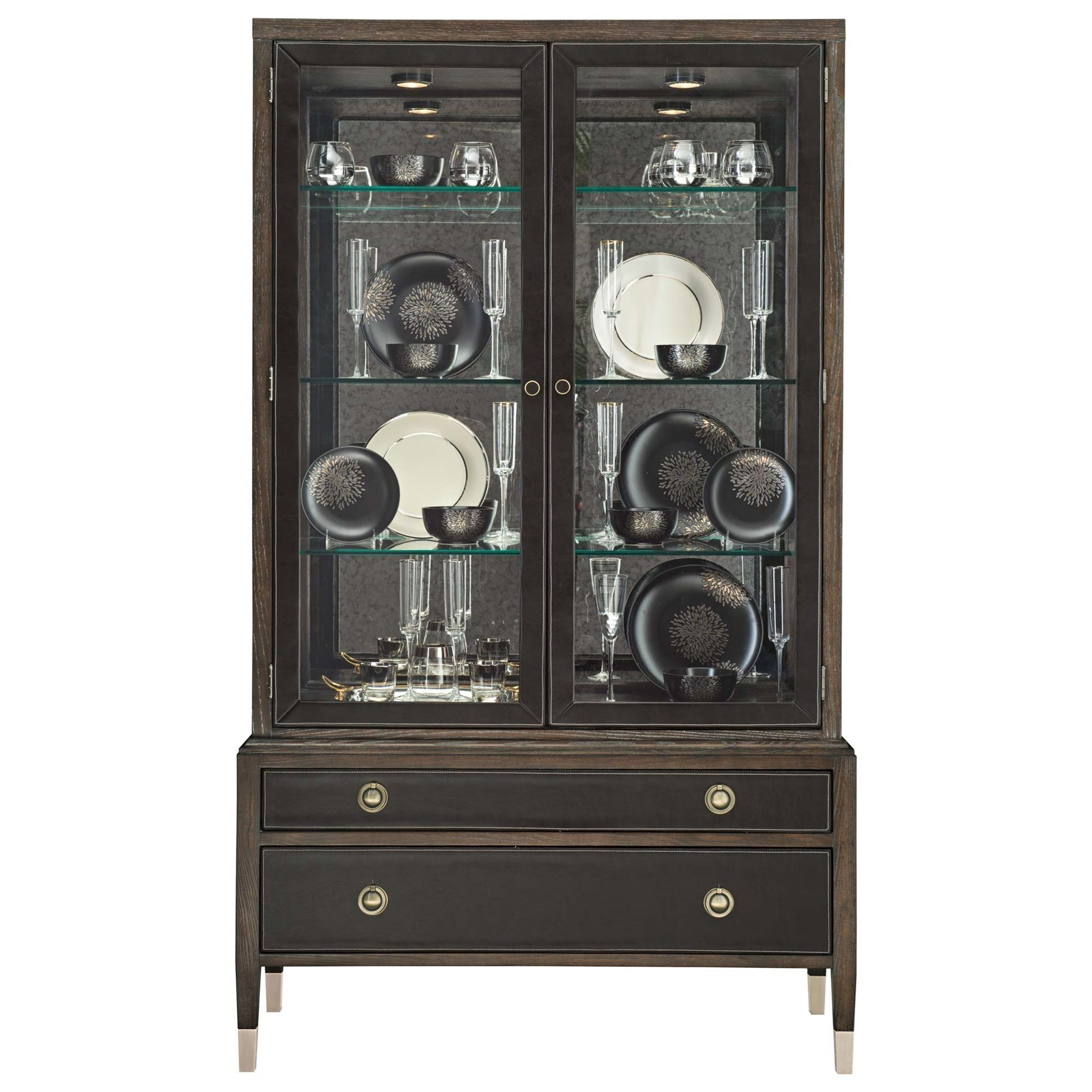 Bernhardt ClarendonChina Cabinet With Adjustable Glass Shelves ...