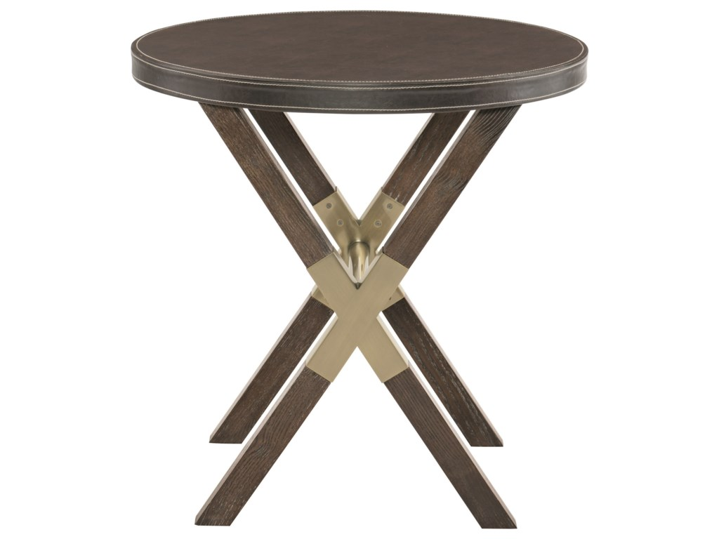 Bernhardt ClarendonRound End Table with X BAse