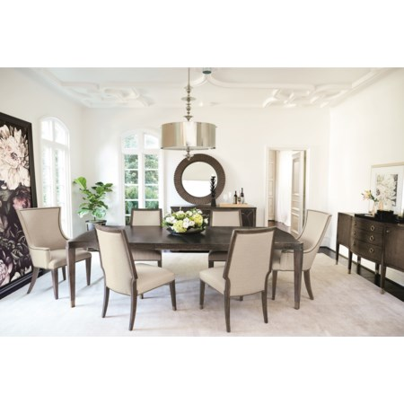 "104"" Dining Table and 6 Chair Set"
