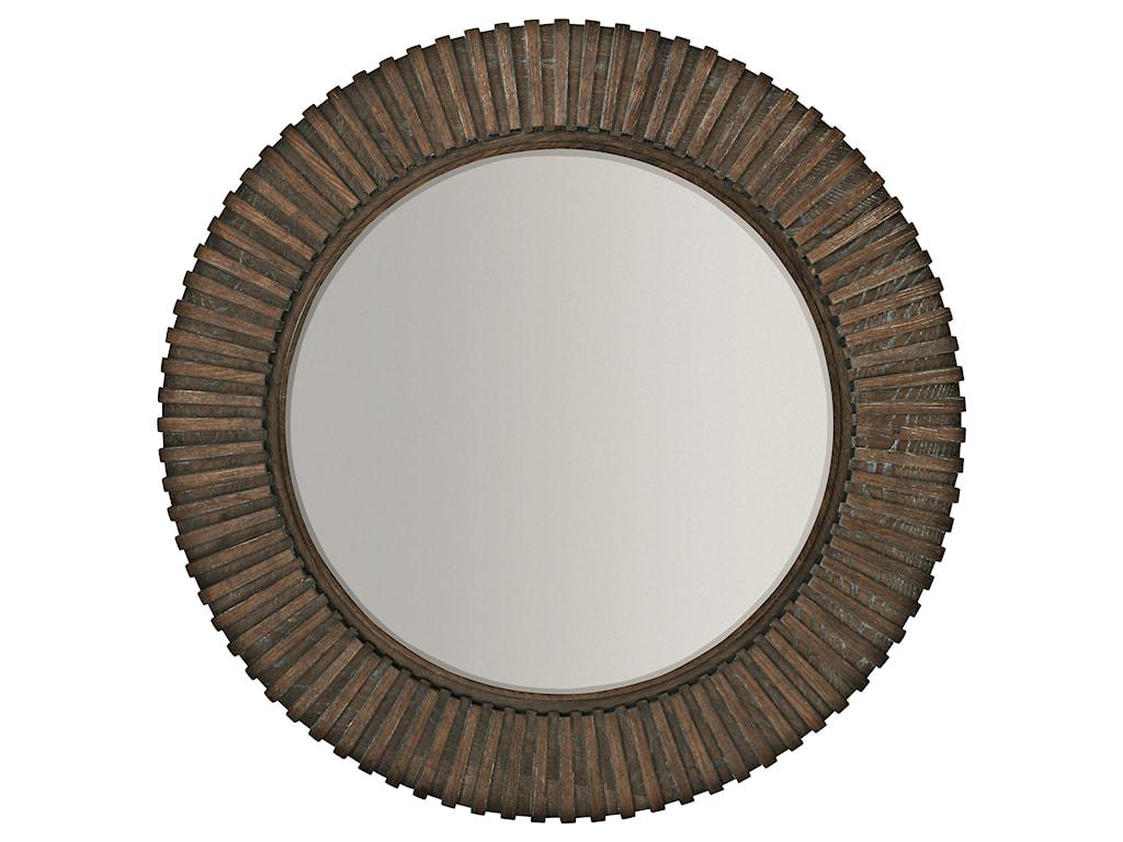 Bernhardt ClarendonRound Mirror with Ribbed Frame