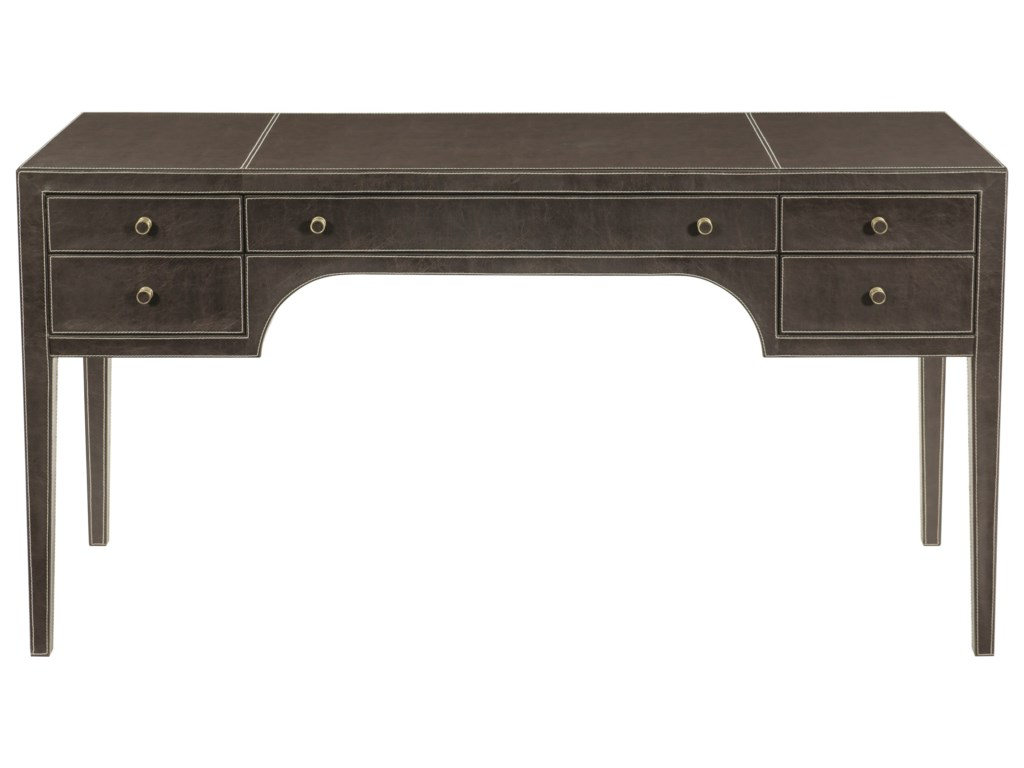 Bernhardt Clarendon5 Drawer Leather Wrapped Desk