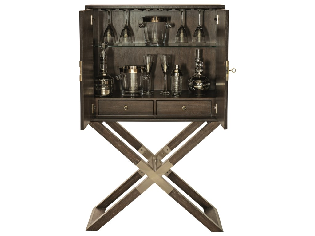 Bernhardt ClarendonBar Cabinet with Stemware Holder