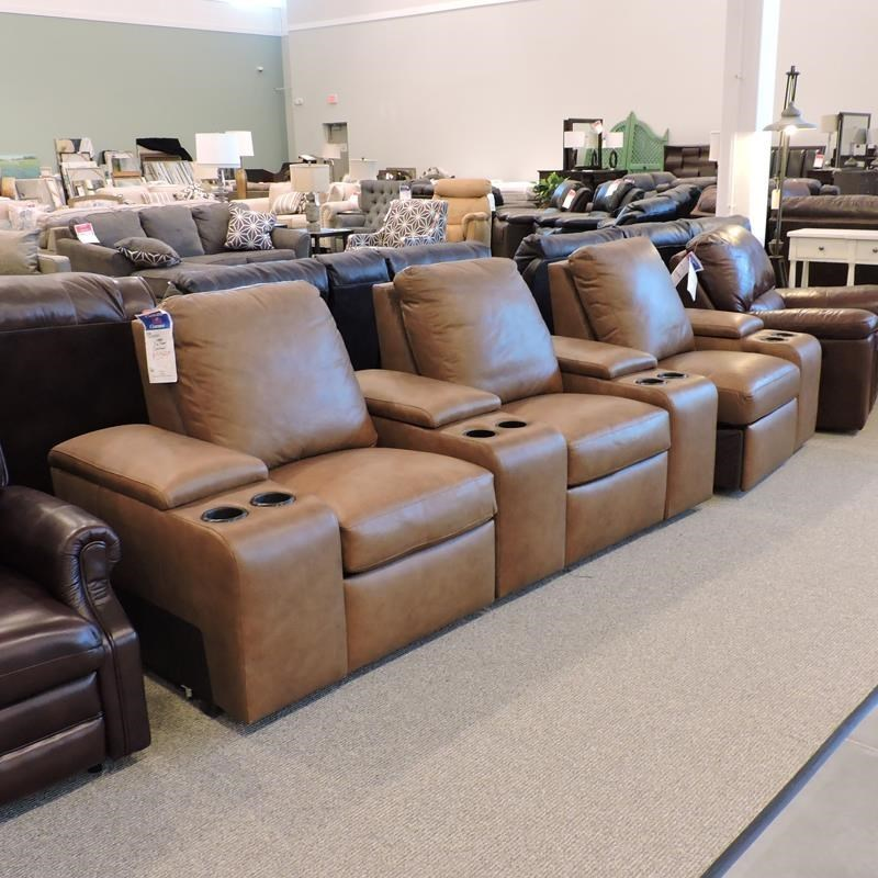 Bernhardt Clearance 3 Pc Leather Power Sectional Belfort Furniture