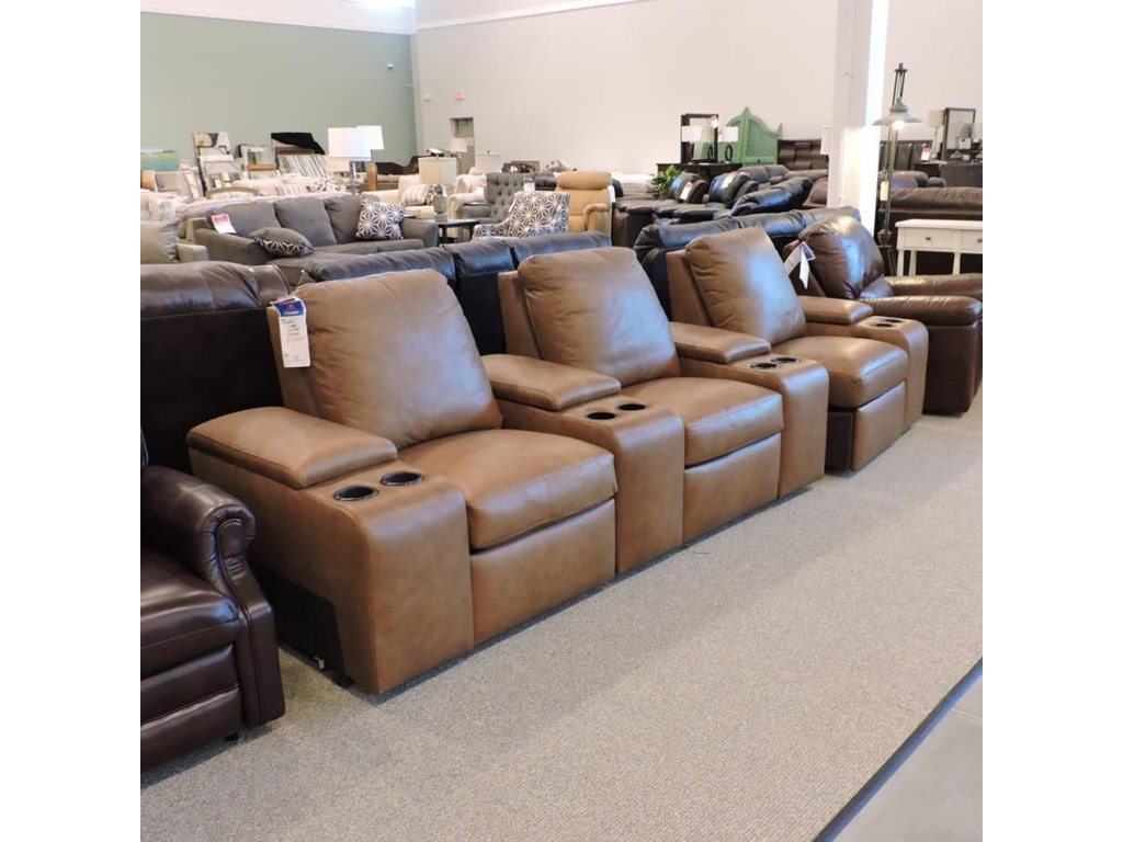 Bernhardt Clearance3 pc Leather Power Sectional