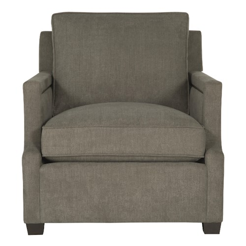 Bernhardt Clinton Chair with Contemporary Transitional Style