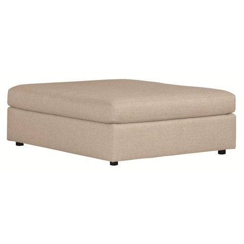 Bernhardt Como  Contemporary Cocktail Ottoman with Smooth Upholstered Style