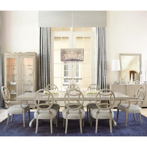 Bernhardt Criteria 9 Piece Dining Set with Splat Back Chairs