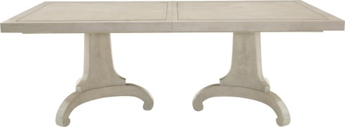 Bernhardt Criteria Double Pedestal Dining Table with Stainless Steel Inlays
