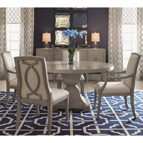 Bernhardt Criteria 5 Piece Dining Set with Upholstered Chairs