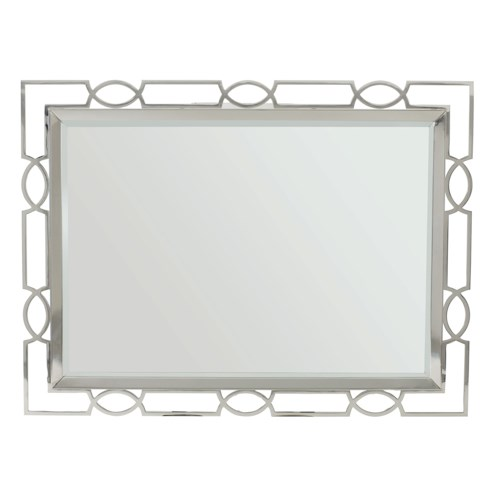 Bernhardt Criteria Metal Mirror with Open Fretwork Frame