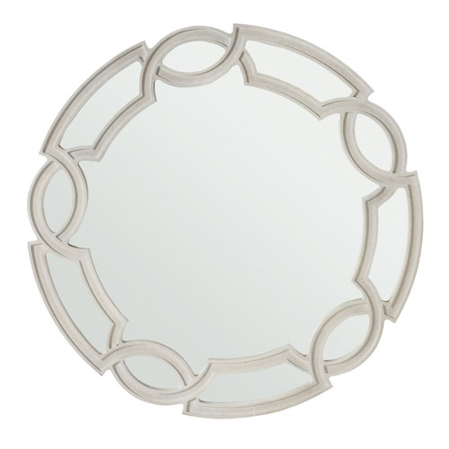 Bernhardt Criteria Round Mirror with Interlocking Frame Design