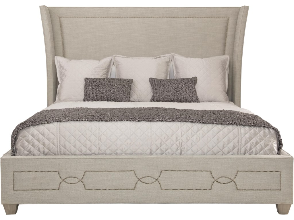 newest 2a42d 0104b Bernhardt Criteria Queen Upholstered Bed with Decorative ...