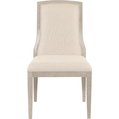 Bernhardt Criteria Customizable Upholstered Side Chair with Exposed Splat