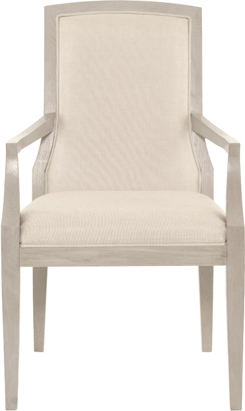Bernhardt Criteria Customizable Upholstered Arm Chair with Exposed Splat
