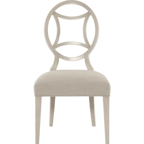 Bernhardt Criteria Customizable Side Chair with Round Splat Back