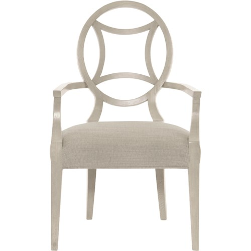 Bernhardt Criteria Customizable Arm Chair with Round Splat Back