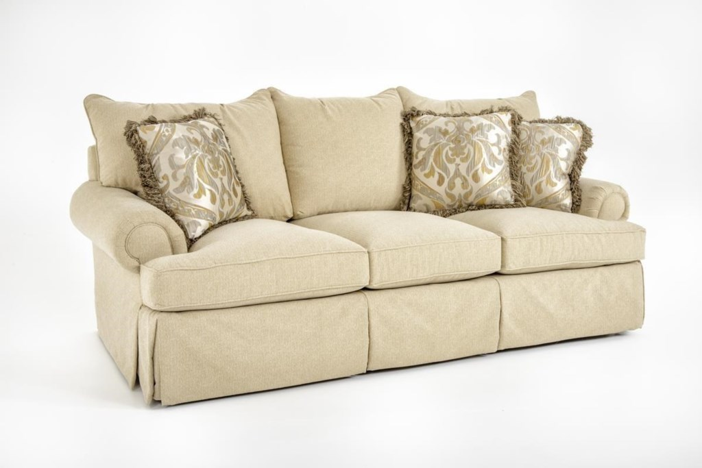 Bernhardt Danielle Standard Sized Stationary Sofa Couch Baer s