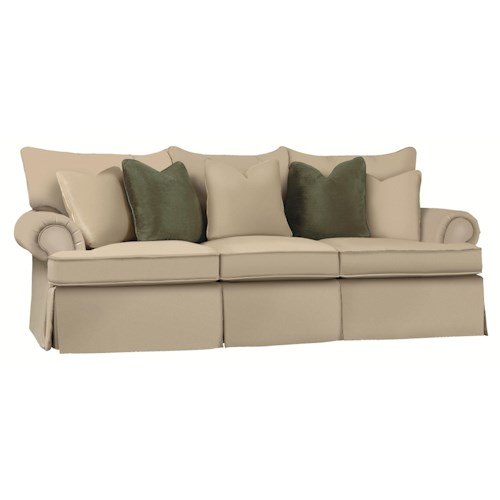 Bernhardt Danielle Standard Sized Stationary Sofa / Couch