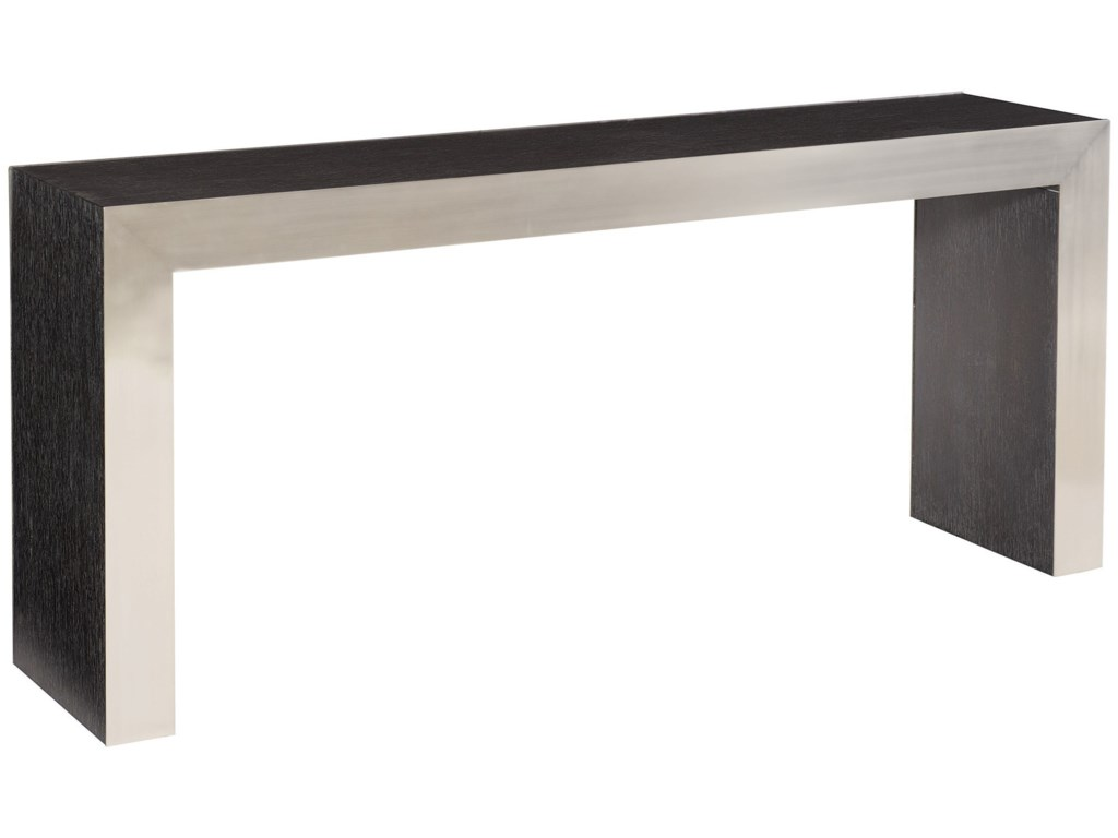 Bernhardt Decorage 380-910 Contemporary Console Table with Stainless ...