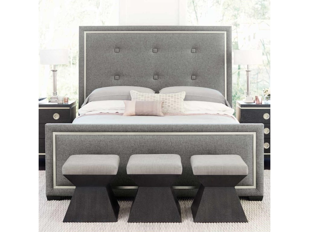 Bernhardt DecorageQueen Upholstered Panel Bed
