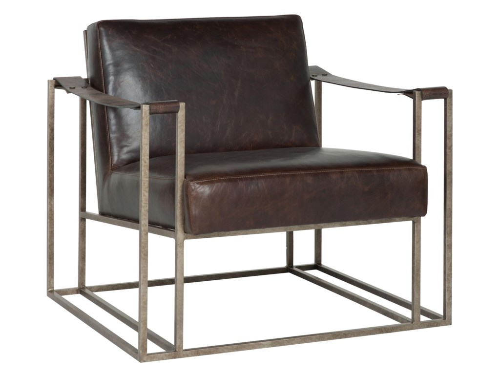 Bernhardt Dekker 3212l Dekker Industrial Leather Chair With Metal