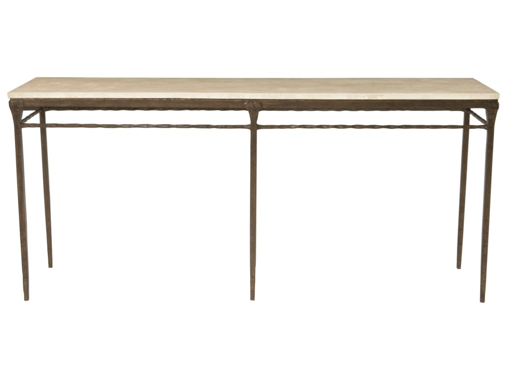 Bernhardt Desmond Console Table With Agate Stone Top
