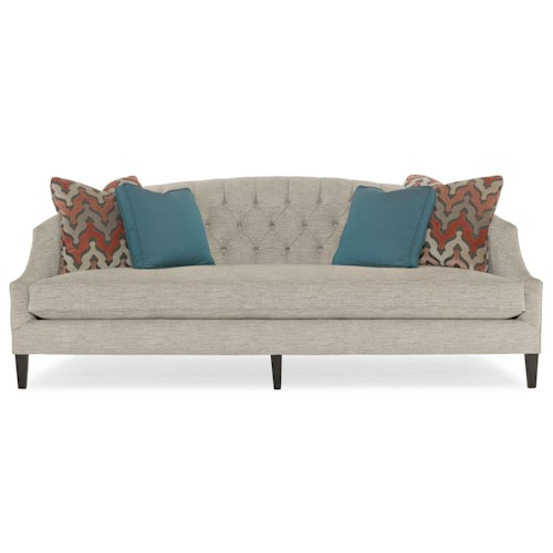 Bernhardt Diane Contemporary Sofa with Button-Tufted Back and Sloped Track Arms