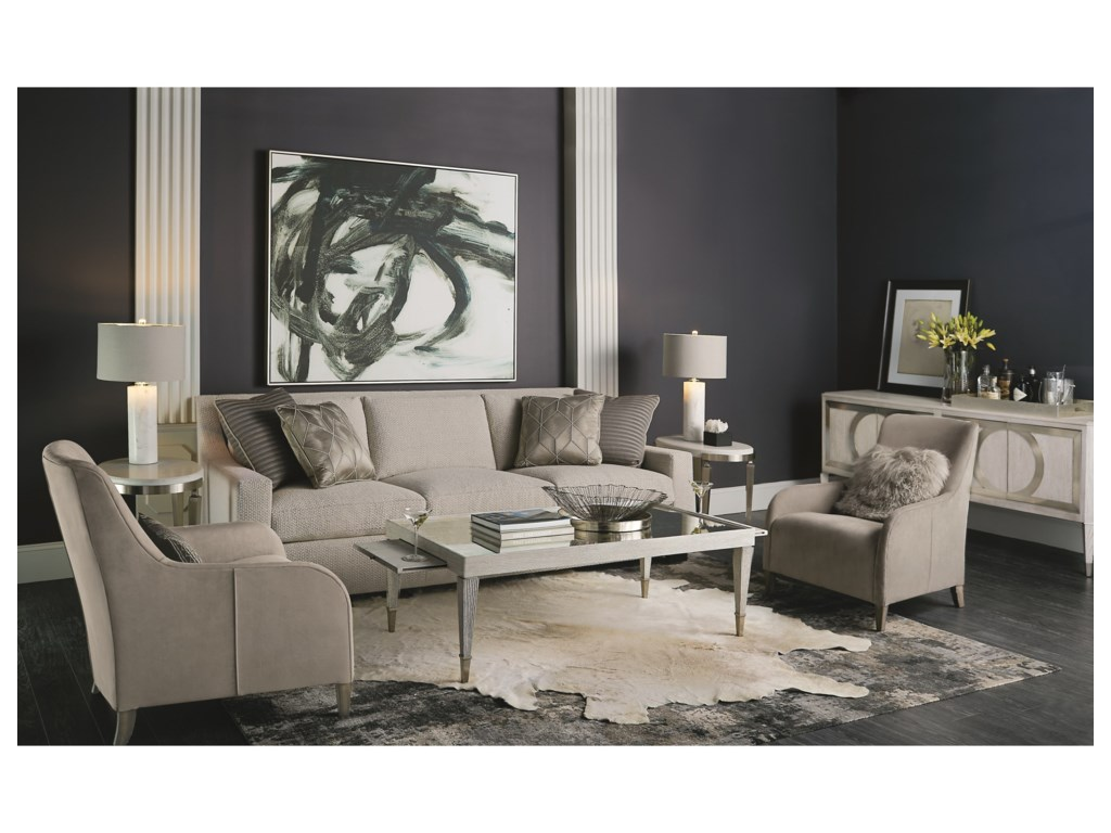 Bernhardt Domaine BlancOval Side Table