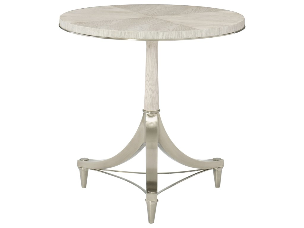 Bernhardt Domaine BlancRound Pedestal Chairside Table