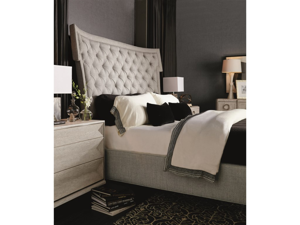 Bernhardt Domaine BlancUpholstered King Bed