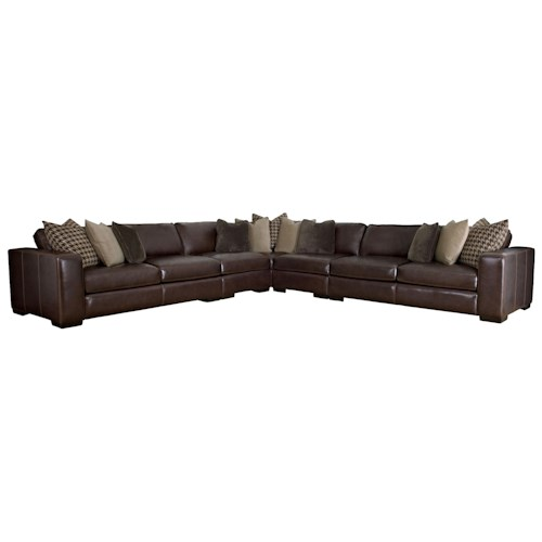 Bernhardt Dorian by Bernhardt Sectional Sofa in Contemporary Style with Six Seats