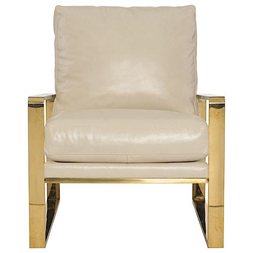 Bernhardt Dorwin Chair with Gold Metal Frame