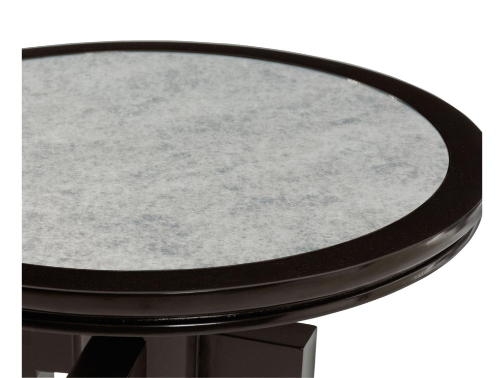 Table Features an Inset Antiqued Mirror Glass Top
