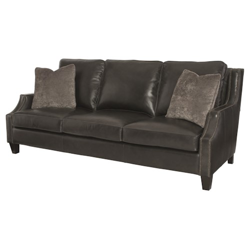 Bernhardt Duncan Transitional Sofa with Nail Head Trim