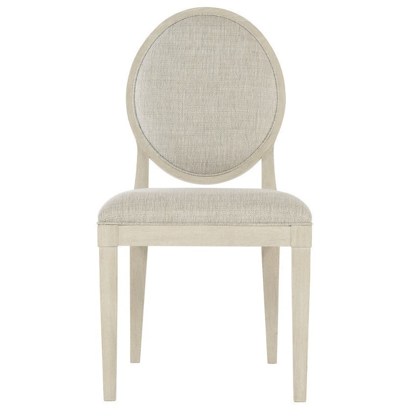 Transitional Oval Back Side Chair