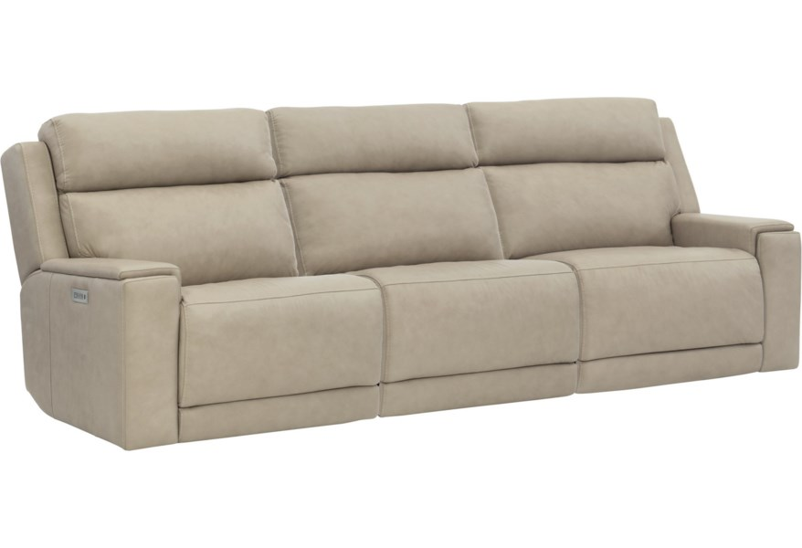 Bernhardt Emerson Contemporary Power Motion Sofa With Power Tilt Headrests And USB Charging Ports | Belfort Furniture | Reclining Sofas