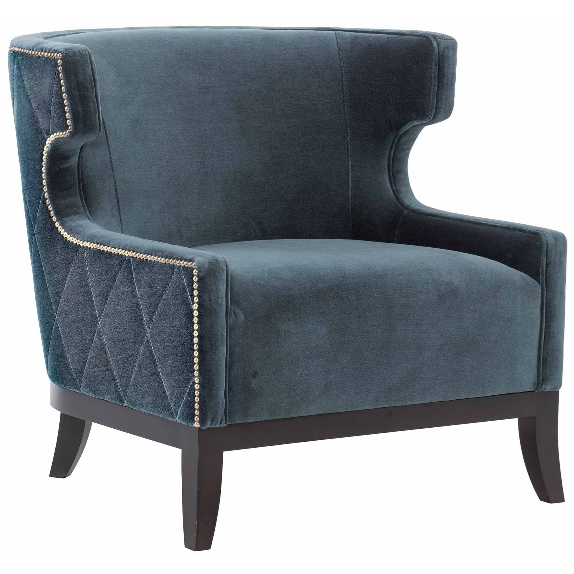 Picture of: Bernhardt Emma Transitional Barrel Back Chair With Nailheads And Diamond Stitching Sheely S Furniture Appliance Upholstered Chairs