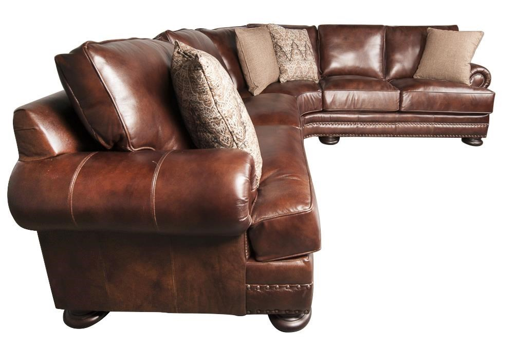 Bon ... Bernhardt FosterFoster 100% Leather Sectional Sofa