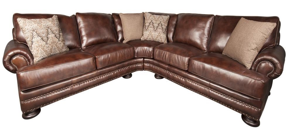 Bernhardt Foster 100 Leather Sectional Sofa Morris Home