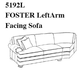 Configure the Sectional Sofa of Your Choice with the Left Arm Facing Sofa in Any Leather/Fabric Combination
