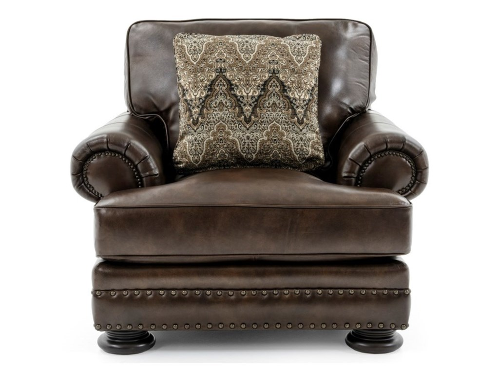Bernhardt Foster 5172L Upholstered Living Room Chair with Nailhead ...