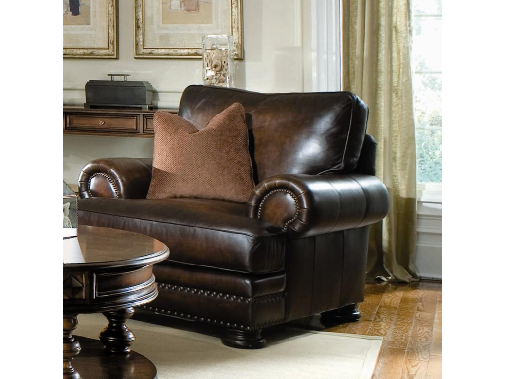 Bernhardt Foster Upholstered Living Room Chair with Nailhead ...